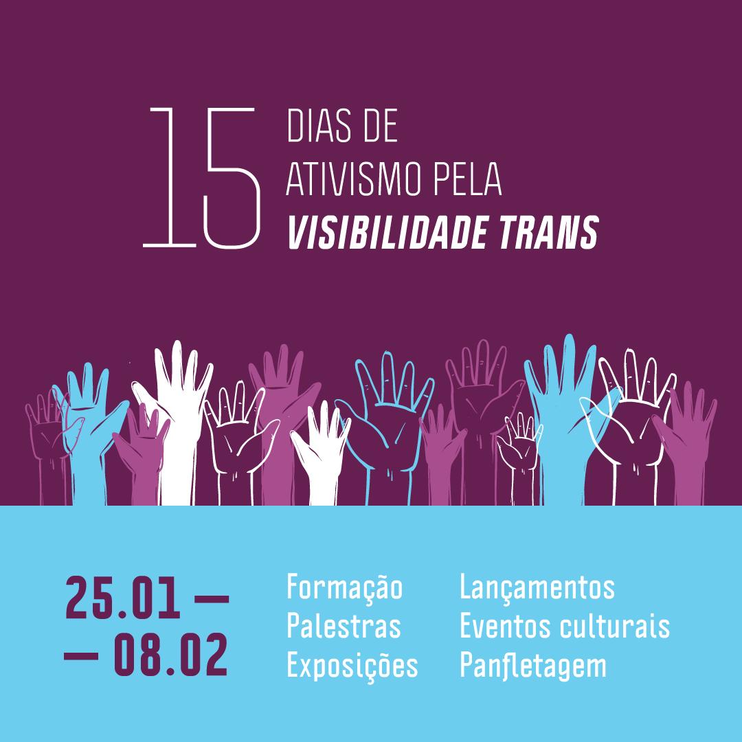 Gabinete 24 participa da organização dos 15 Dias de Ativismo pela Visibilidade Trans