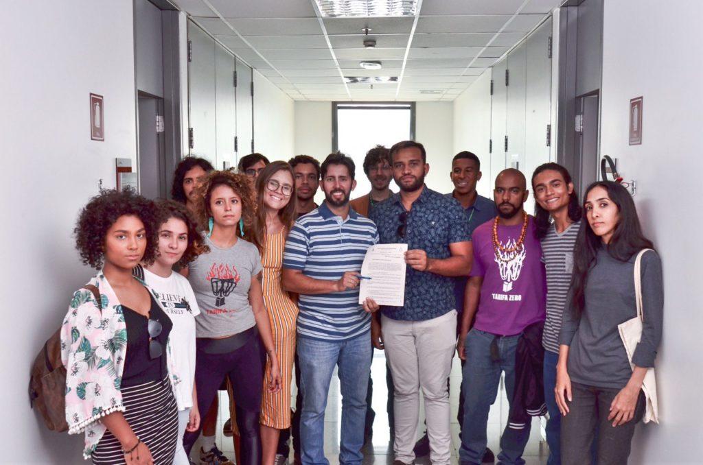 Integrantes do Movimento Passe Livre participaram da elaboração do projeto