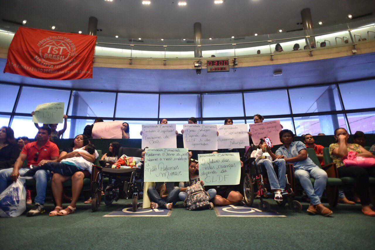Movimentos pró-moradia pedem o fim das derrubadas no DF