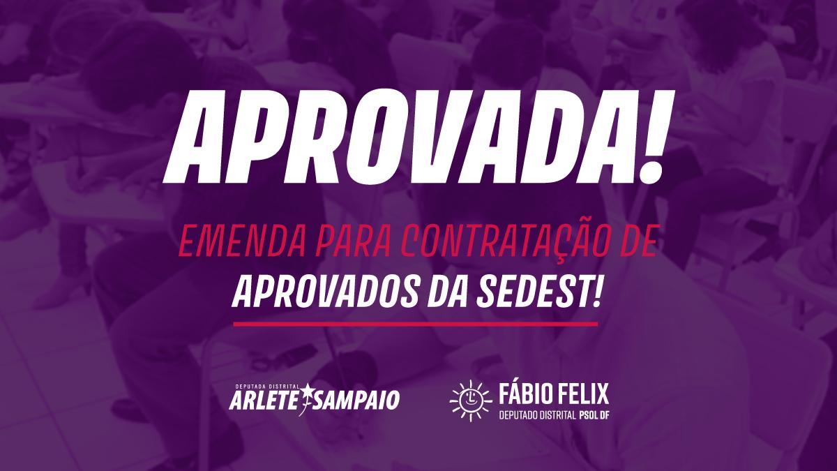 Emenda à LDO autoriza contratação de aprovados da Sedest
