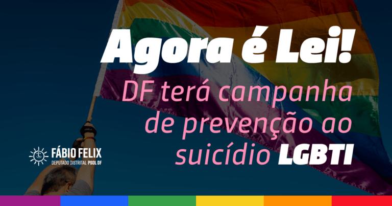Agora é Lei: DF terá campanha de prevenção ao suicídio LGBTI
