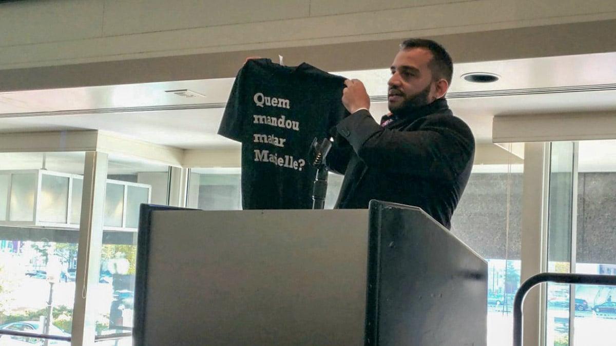 Em conferência mundial, Fábio Felix denuncia falhas nas investigações do assassinato de Marielle