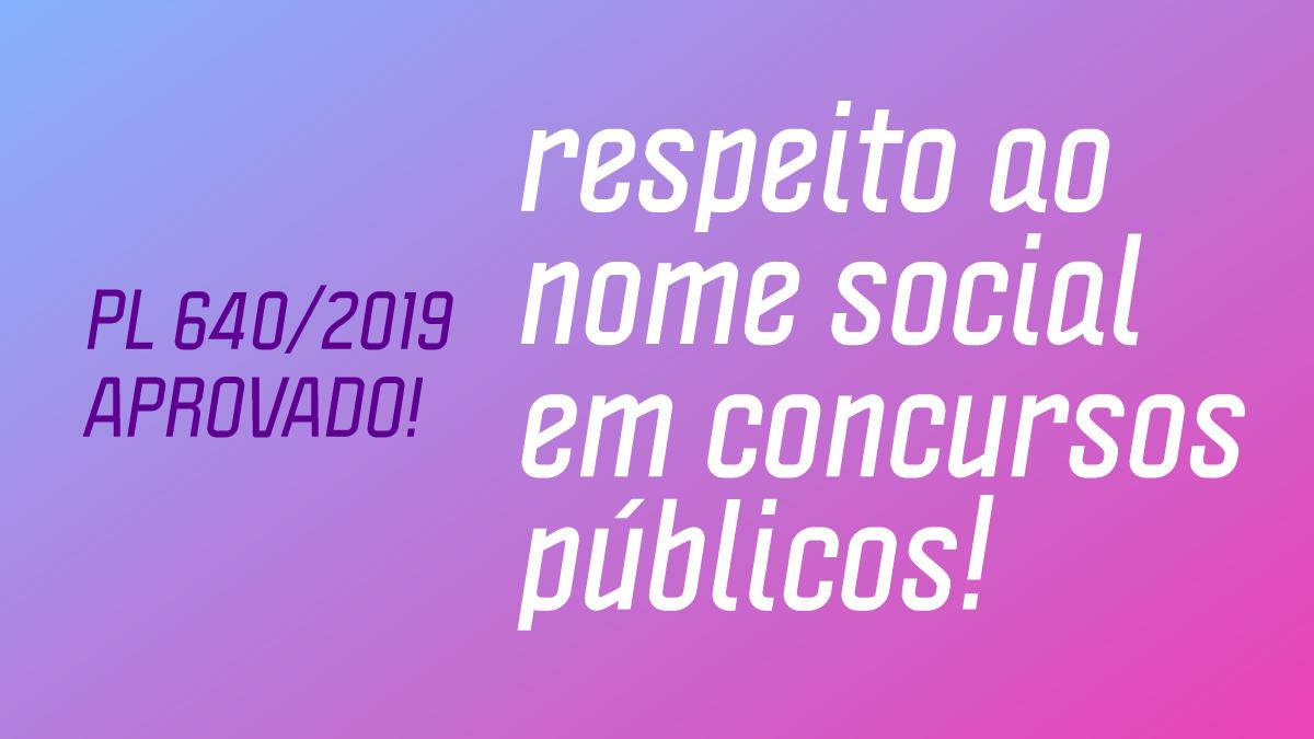 Uso de nome social em concursos públicos