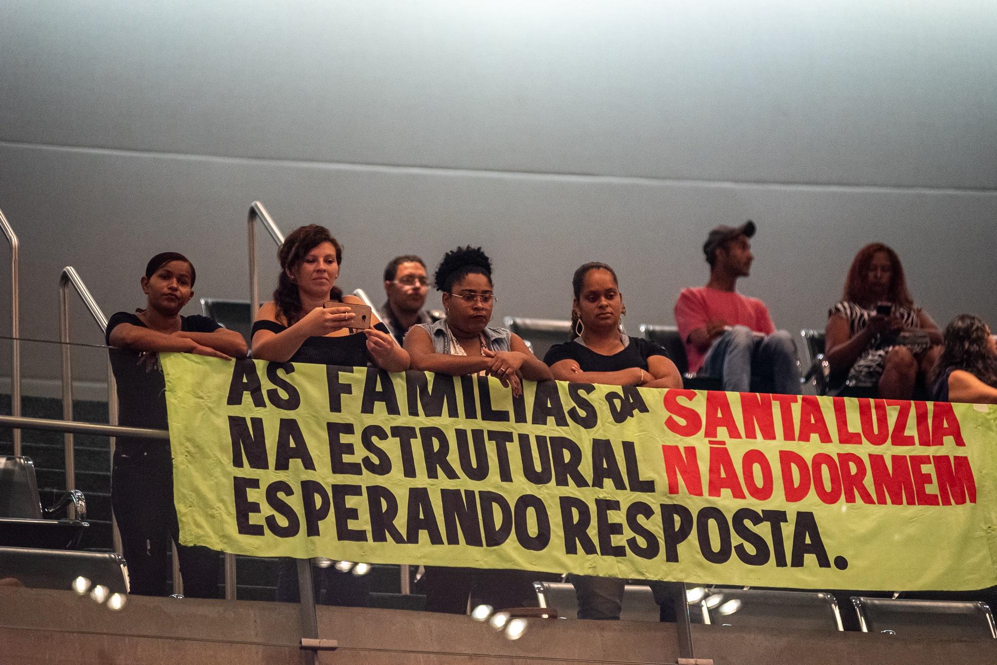 Situação das famílias de Santa Luzia é debatida em audiência pública