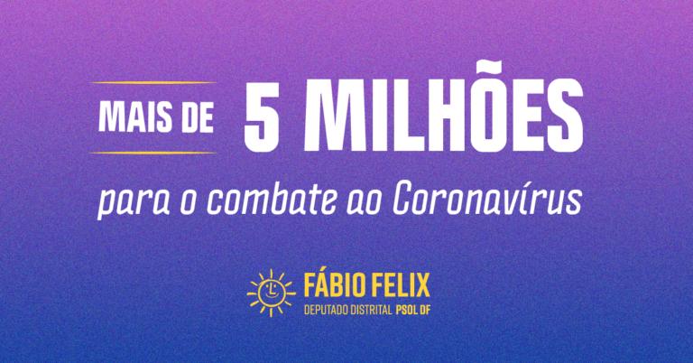 Coronavírus: Gabinete 24 destina mais de R$ 5 milhões em emendas