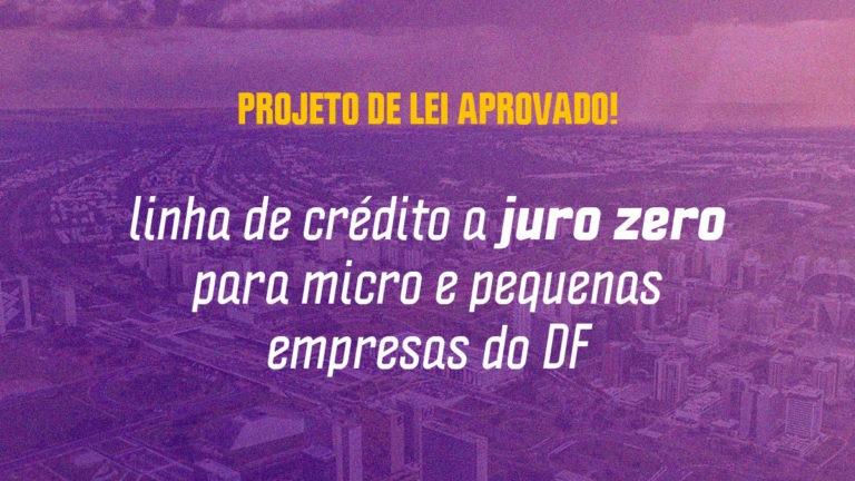Distrital Fábio Felix aprova linha de crédito a juro zero para micro e pequenas empresas do DF