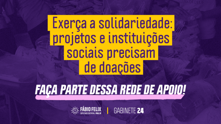 Solidariedade na crise: Apoie projetos sociais