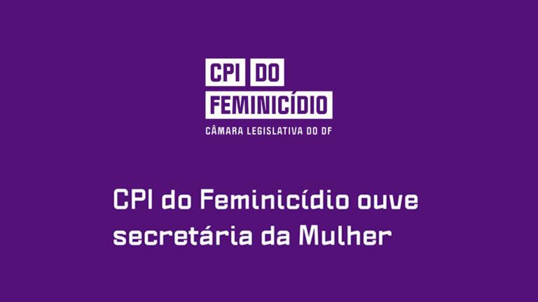CPI do Feminicídio ouve secretária da Mulher