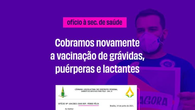Cobramos novamente a vacinação de grávidas, puérperas e lactantes
