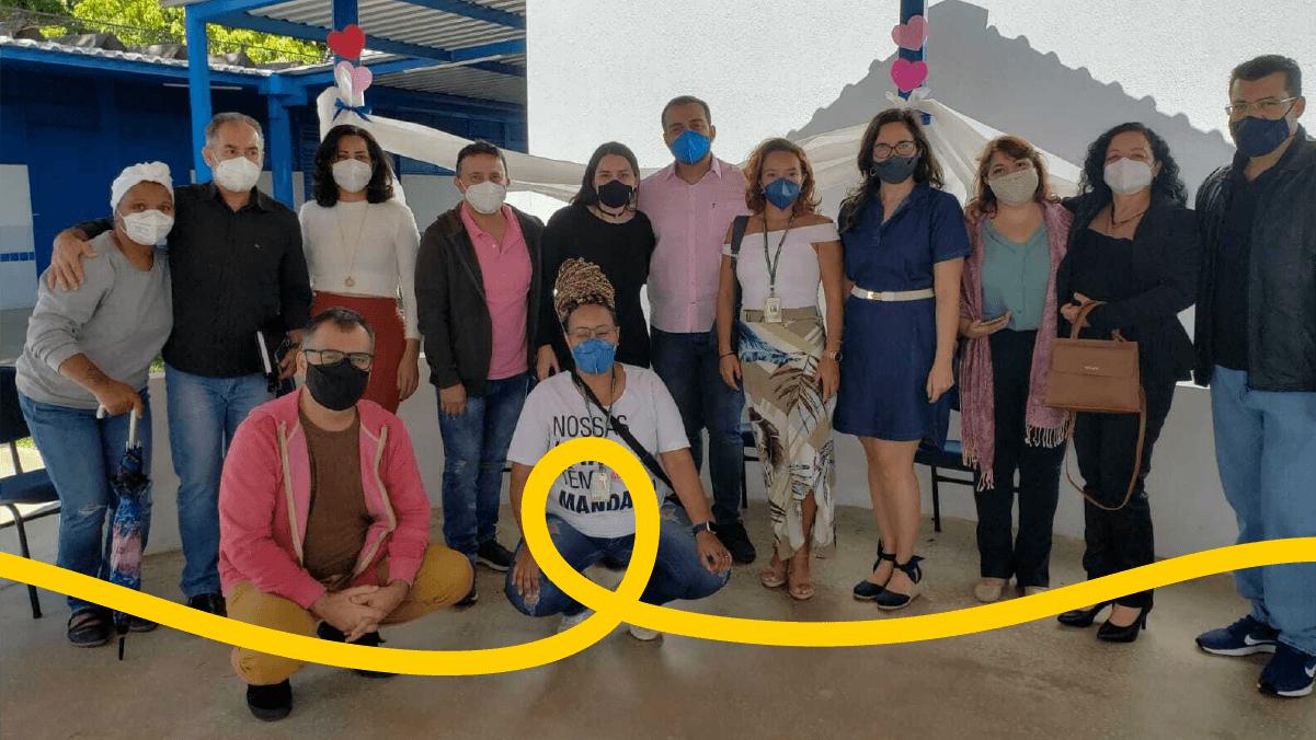 Fábio visita escolas, Cozinha Solidária do MTST e IFB em Planaltina